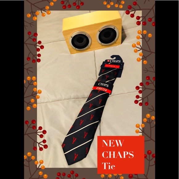 🚘Men's CHAPS Navy Lobster Tie New with tags🚘 NWT